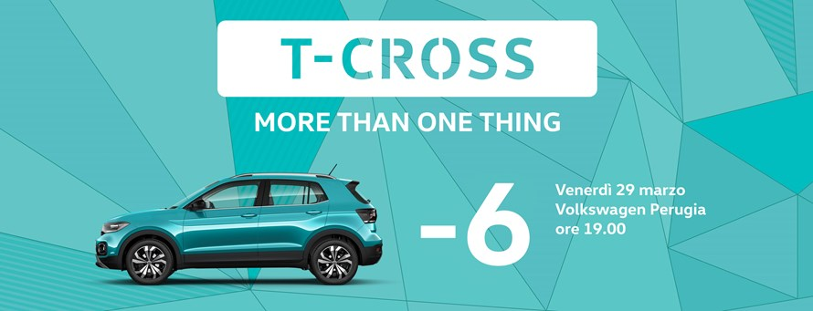 Nuova T-Cross. Evento di presentazione. Be first. Be fast. Registrati adesso!